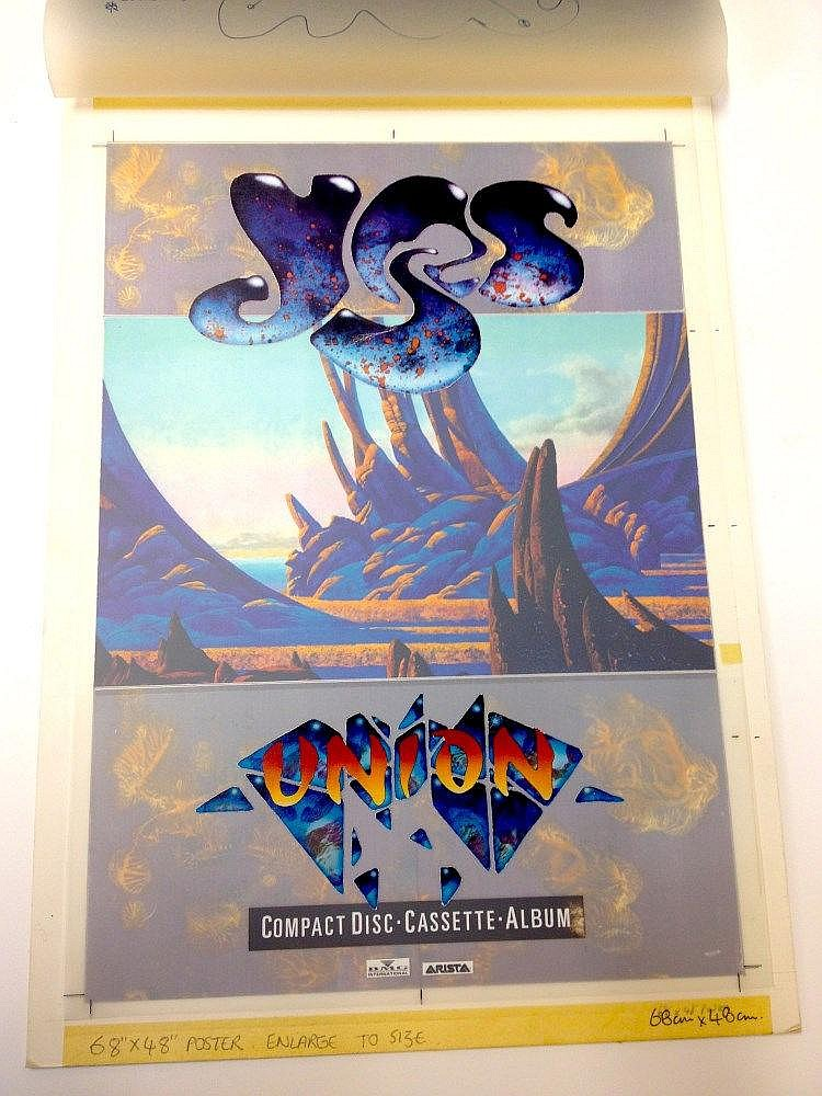 YES Original production artwork for Yes - Union
