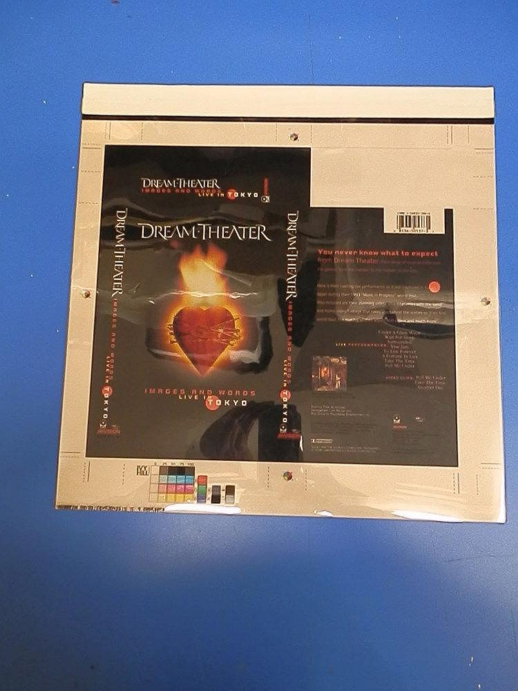 Dream Theater original proof for a VHS cover dated 10/29/93