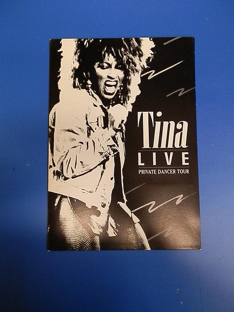 Tina Turner press office publicity folder.