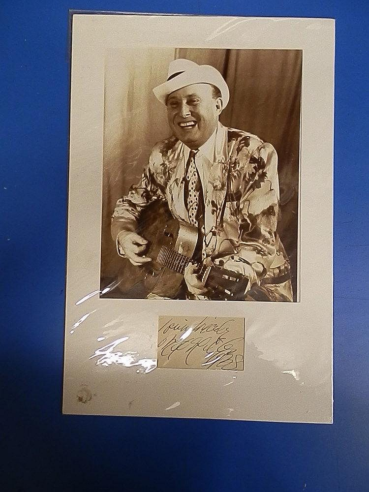 Max Miller signed b/w promotional photograph