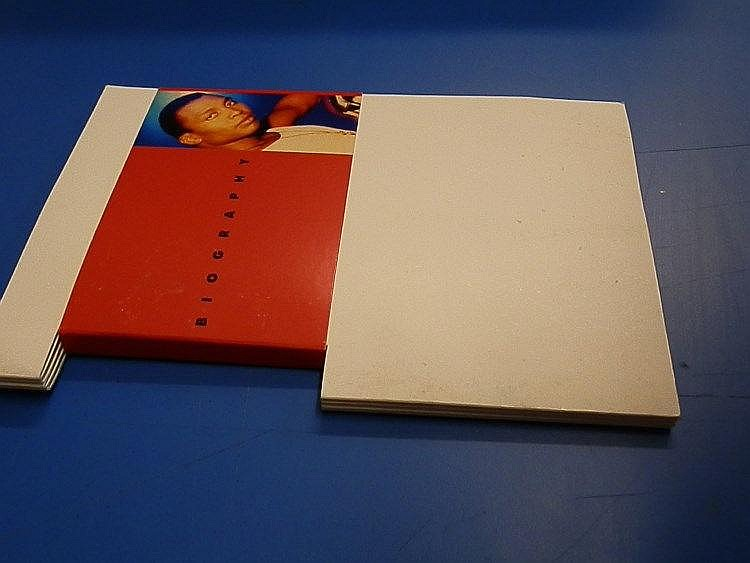 Haddaway sealed promotional biography cutout folder also containing a CD for - The Drive.