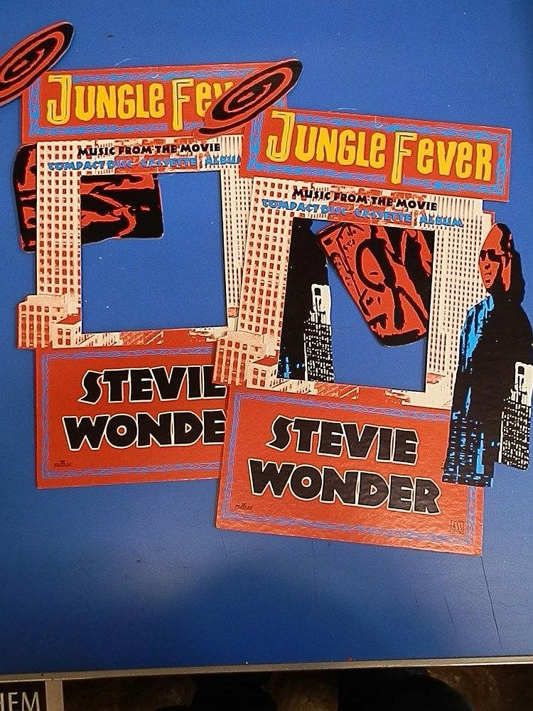 Stevie Wonder promotional cutout hanging advertising for - Jungle Fever