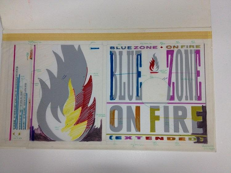 LISA STANSFIELD BLUEZONE Original production artwork for Blue Zone - On Fire.