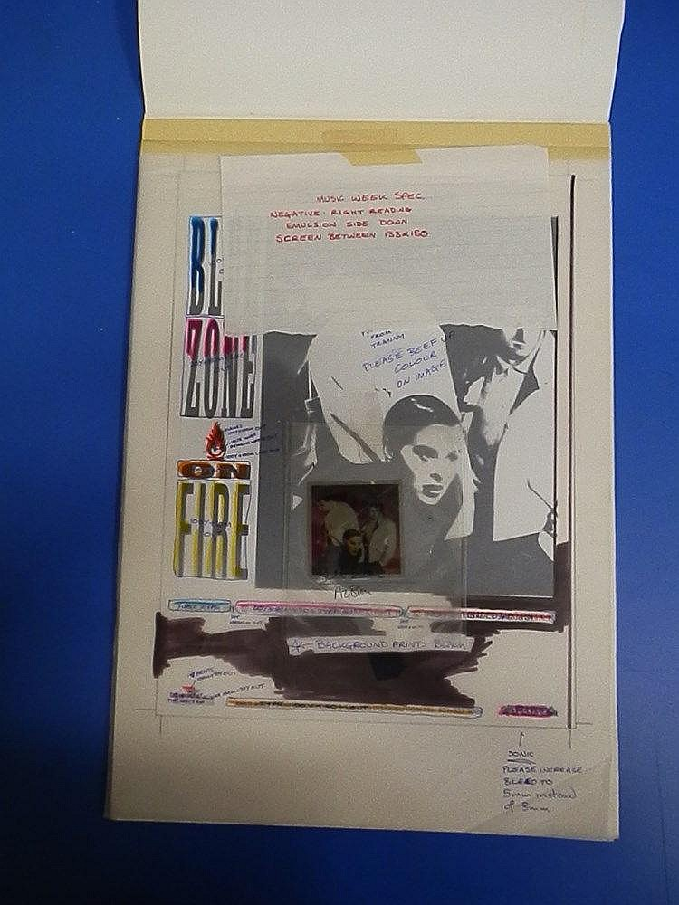 LISA STANSFIELD Original production artwork & Key transparency for Music Week Advertisement for Blue Zone.