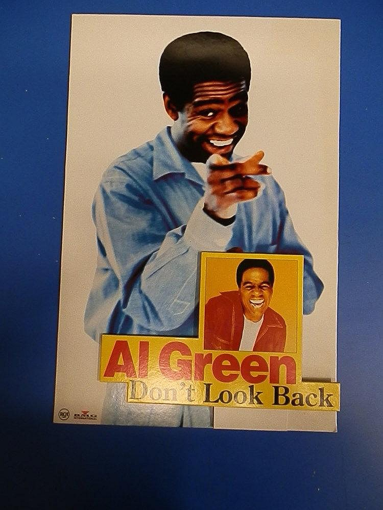 Al Green promotional in store on the counter standee for - Don?t look back.