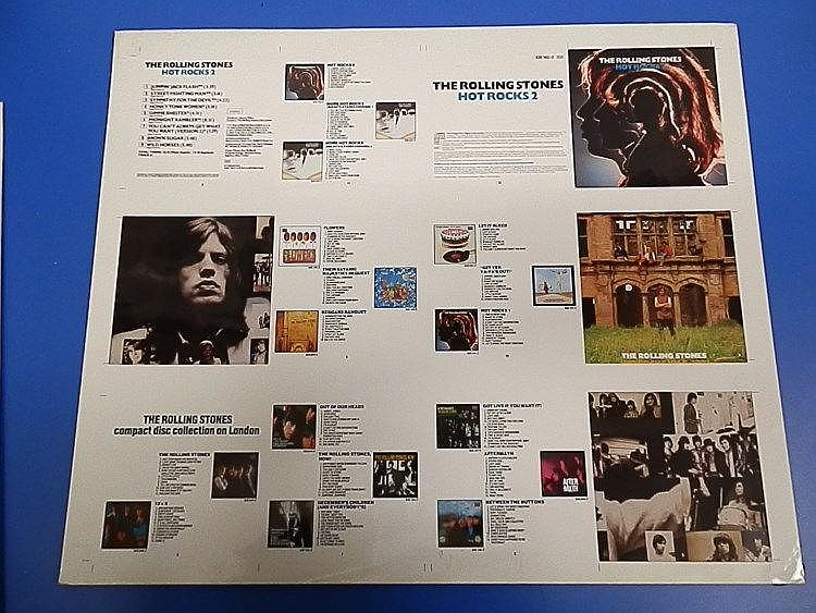 Rolling Stones original Cromalin proof for - Hot Rocks 2