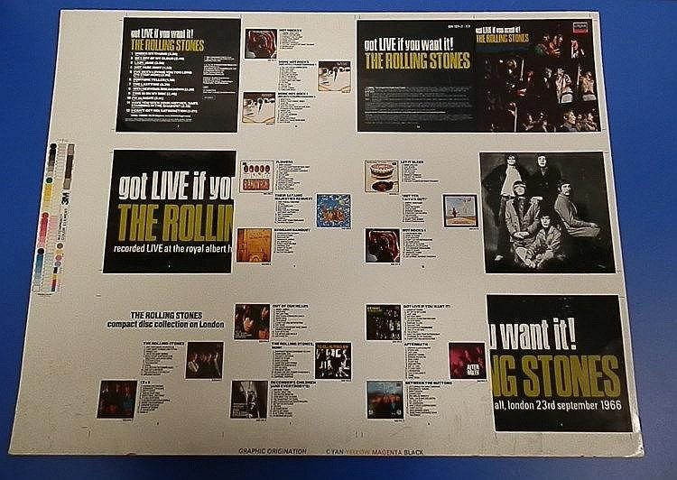 Rolling Stones original Cromalin proof for - got LIVE if you want it!