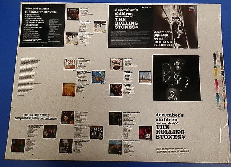 Rolling Stones original Cromalin proof for -december children (and everybody?s)