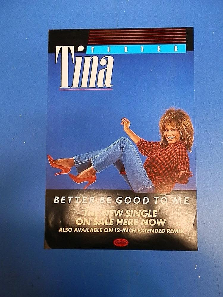 Tina Turner promotional advertising poster for - Better be good to me.