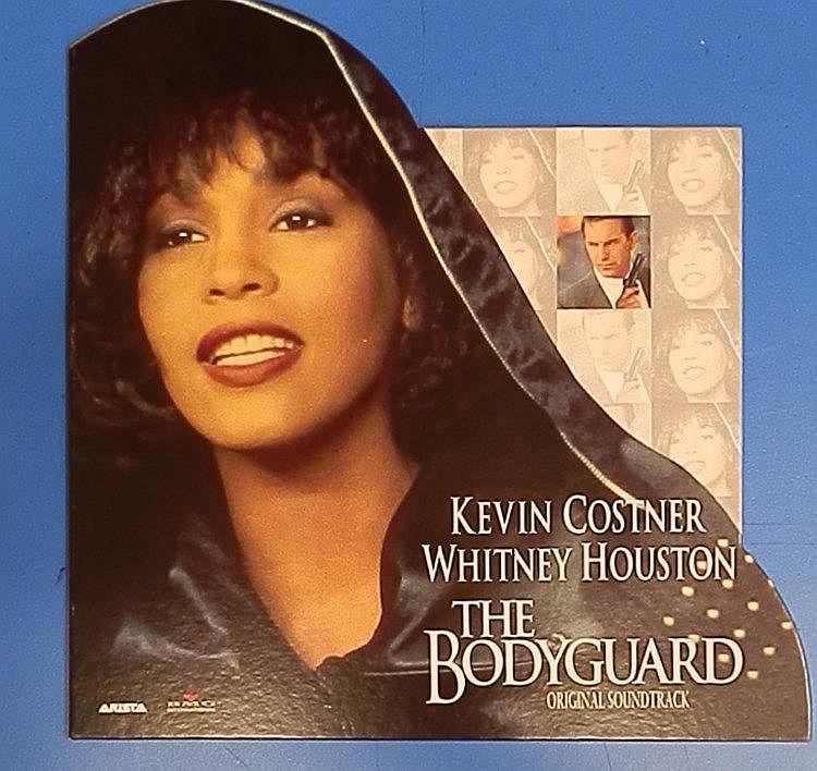 Whitney Houston Promotional on the counter standee - The Bodyguard.