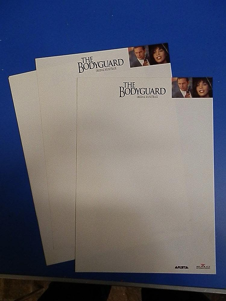 Whitney Houston A4 notepaper for - The BodyGuard.