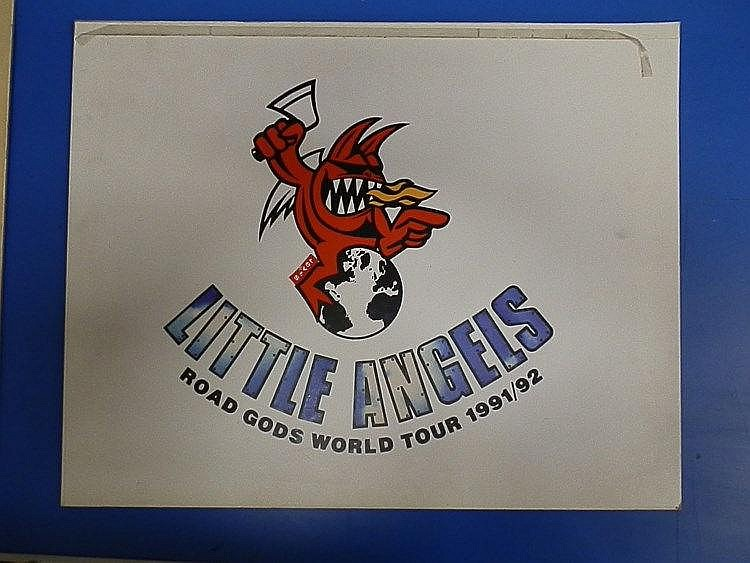 LITTLE ANGELS Original production artwork for Little Angels - Road Gods World Tour 1991/92