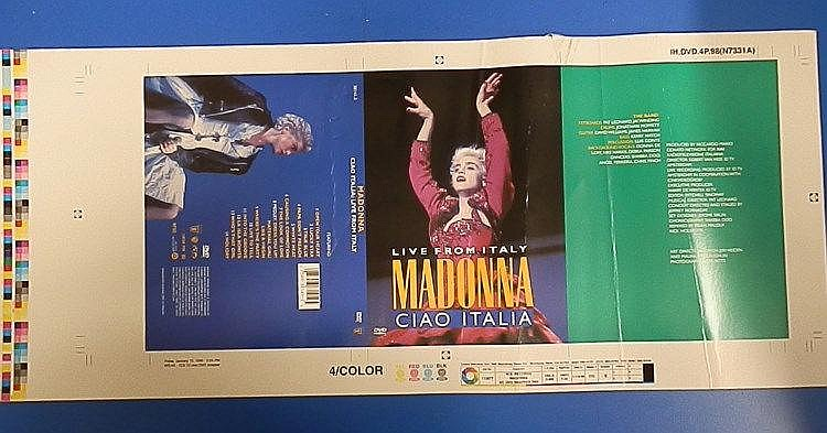 Madonna original proof for - Ciao Italia: Live from Italy