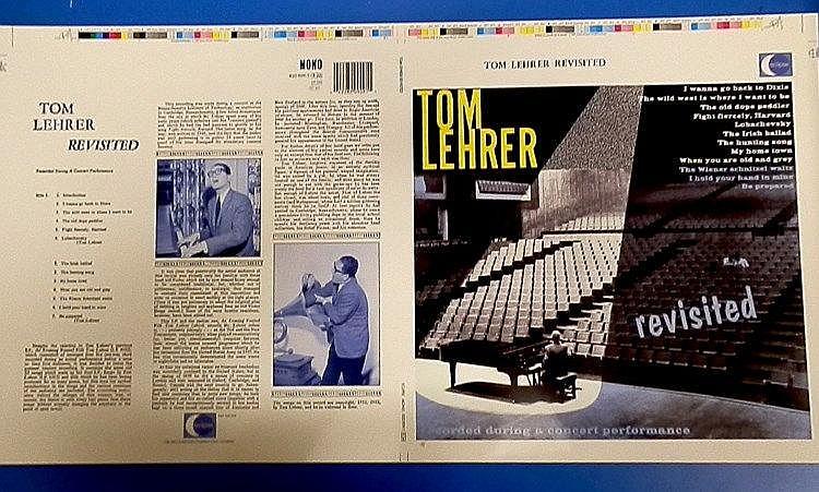Tom Lehrer original Cromalin proof for - revisited