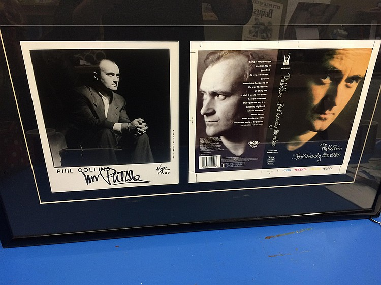 Phil Collins rare proof and signed photograph