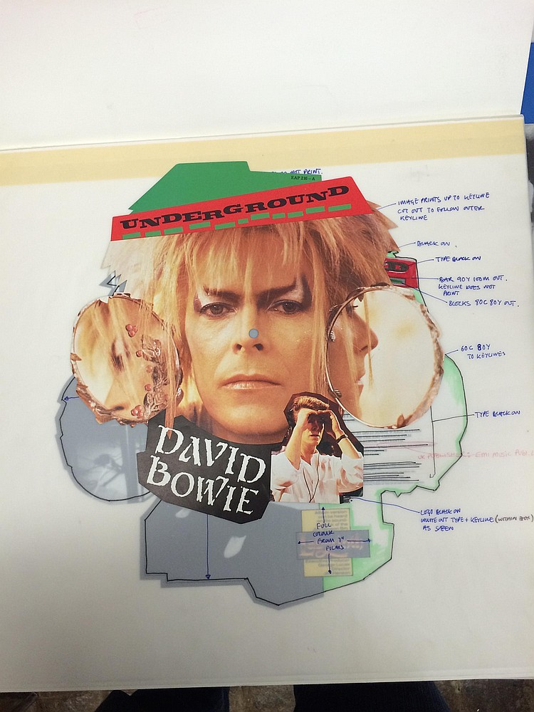 David Bowie extremely rare Original Production Artwork