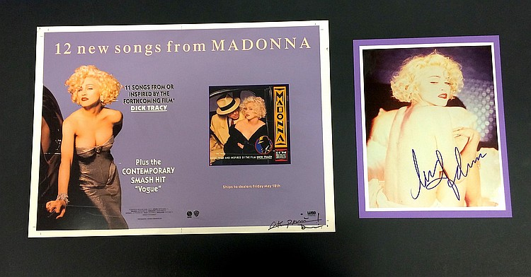 Madonna Original proof and signed display