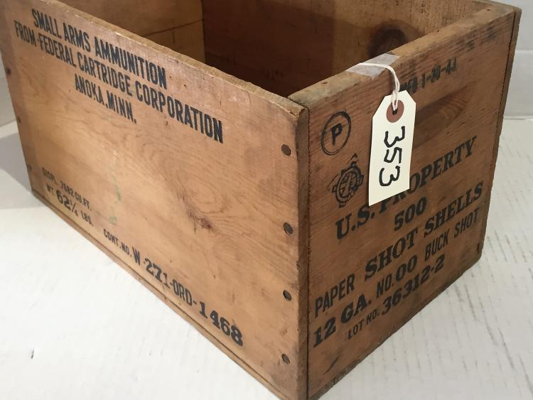 Wood ww ii ammunition box Home furniture design clifton heights pa