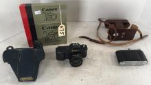 CANON T50 AUTOMATIC FILM CAMERA W/ BOX