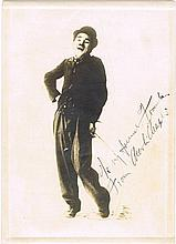 Chaplin, Charlie: Autographed photograph, signed