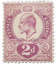 Great Britain Tyrian Plum postage stamp