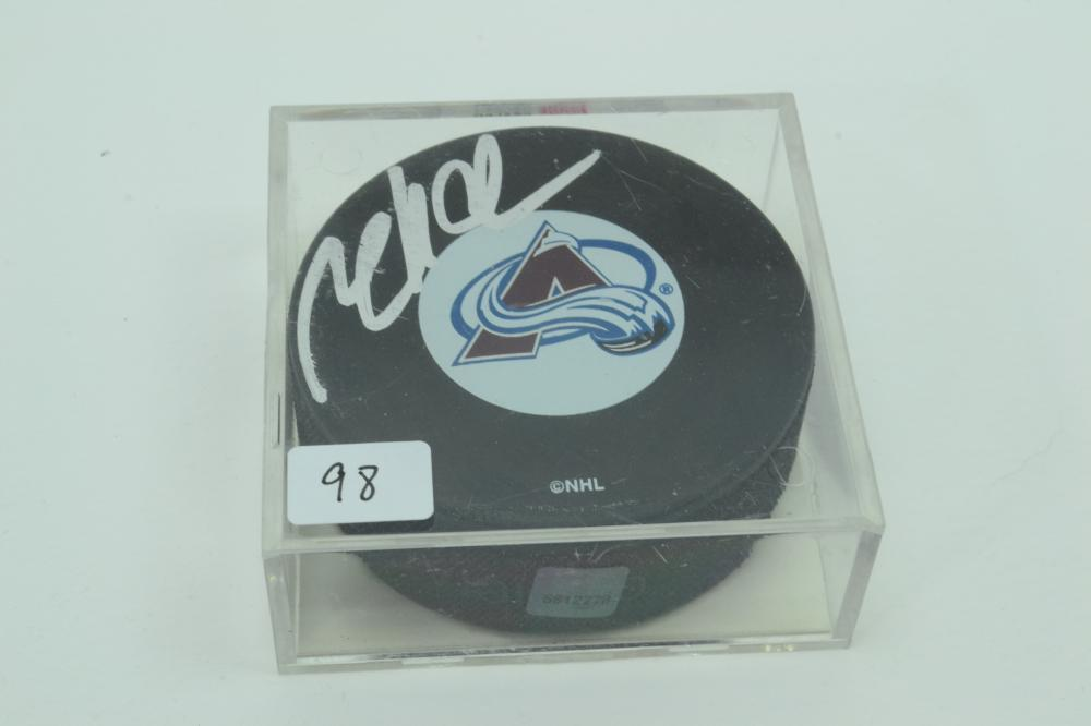 Topps Factory Sealed Milian Hejduk Autographed Hockey Puck