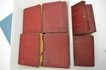 26 Volumes Of Antique Little Luxart Library Books