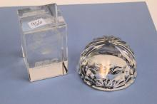 Lot Of 2 Mi5 Stuart Crystal Paperweight And Energy Security Council