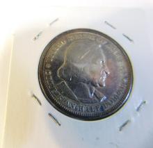 1893 Columbian Exposition Us Silver Half Dollar Coin
