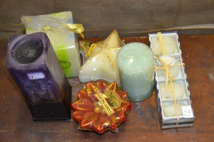 Decorative Candles Lot