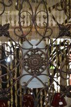 Lot 18: Large Decorative Metal Fleur De Lis Wall Art Panel