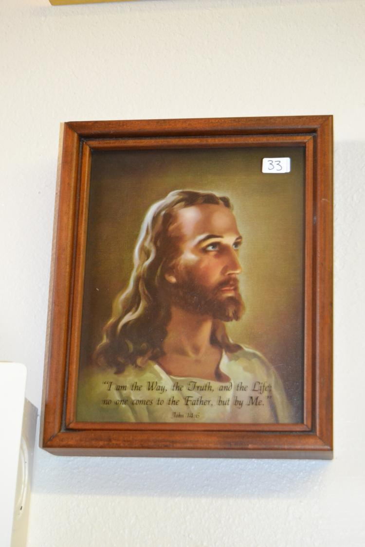 Shadowbox John 14:6 Jesus Christ Framed Print