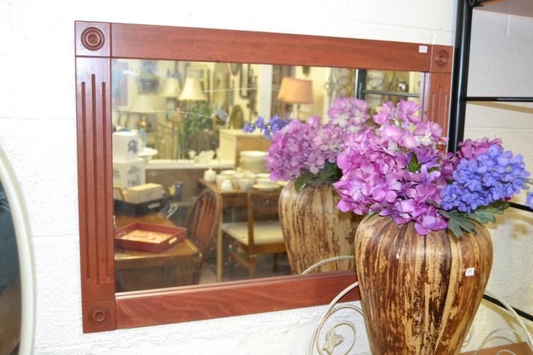 Decorative Wood Framed Wall Mirror