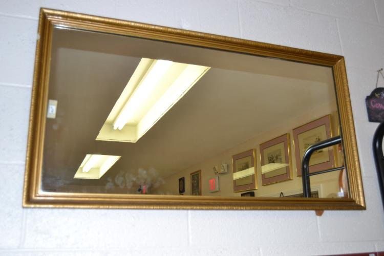 Decorative Gold Framed Rectangular Wall Mirror