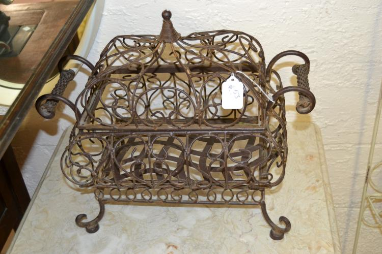 Decorative Vintage Wire Skeleton Trinket Box