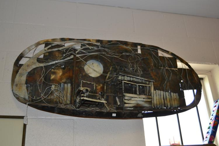 Oversized Ford Model A Decorative Metal Art Panel