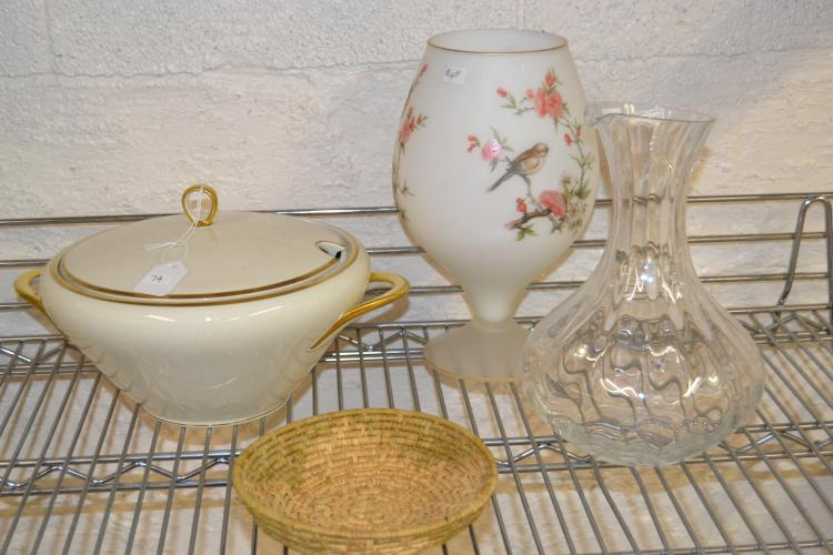 Decorative Home Decor Glassware And Ceramic Lot