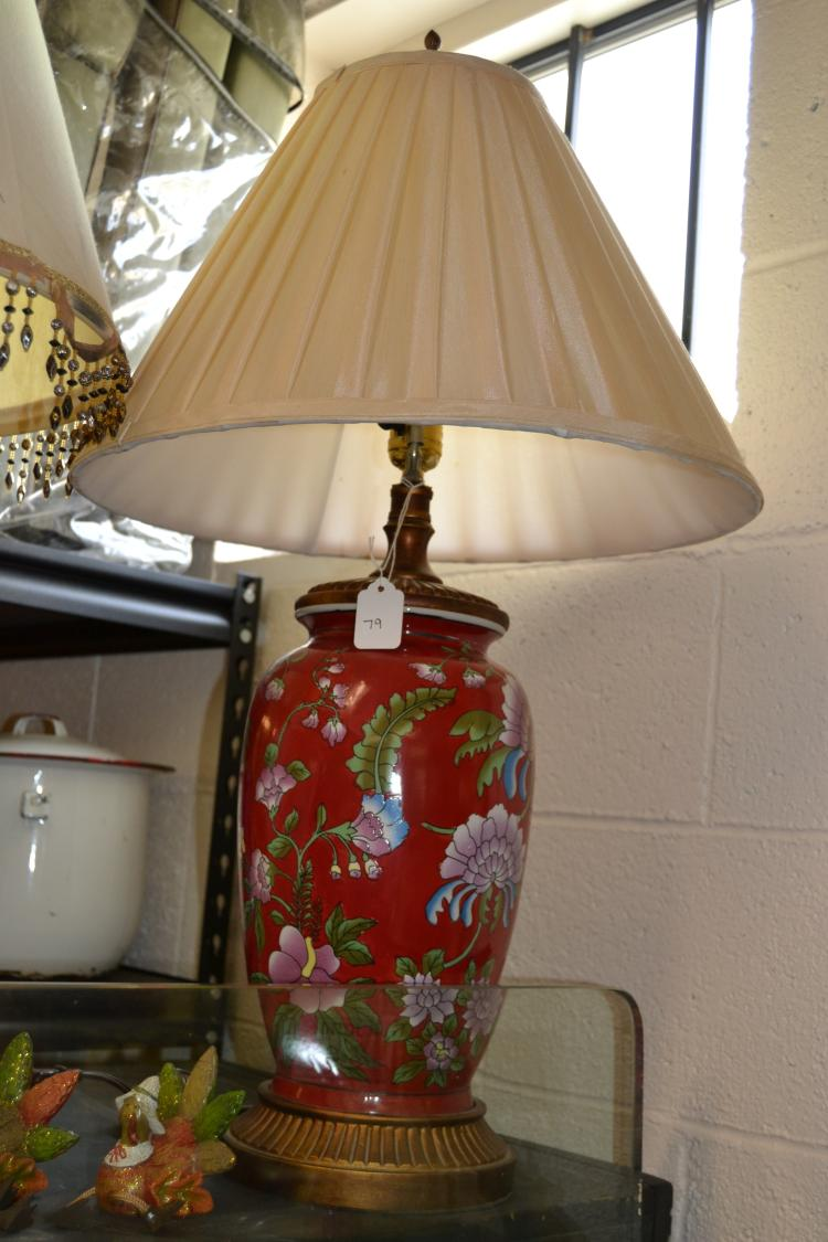 Vintage Floral Ceramic Table Lamp