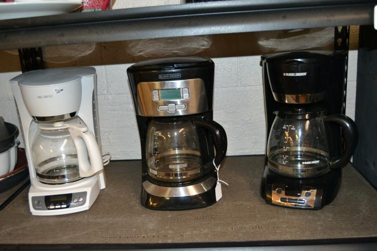 3 Used 12 Cup Coffee Machines
