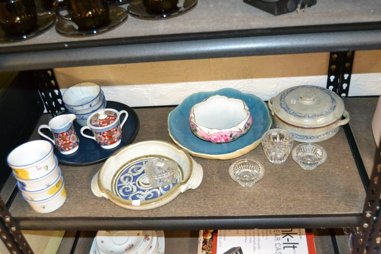 Miscellaneous Ceramic Stoneware And Glass Lot