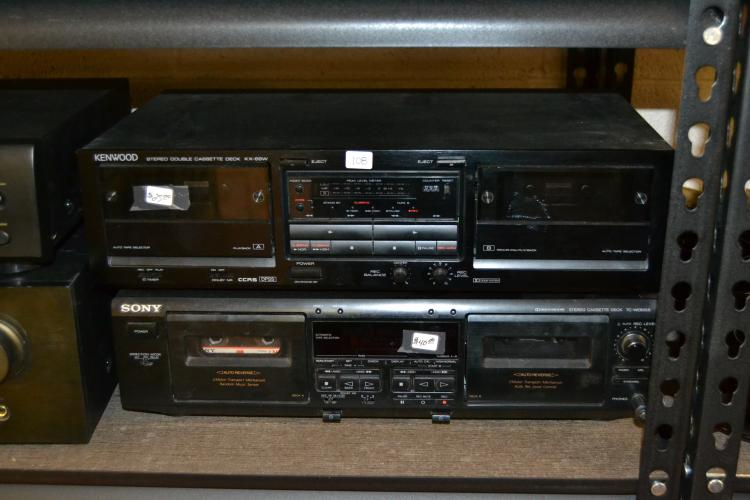 Sony And Kenwood Dual Cassette Deck Home Theater Systems
