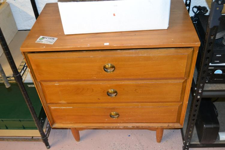 Vintage 3 Drawer Wood Dresser