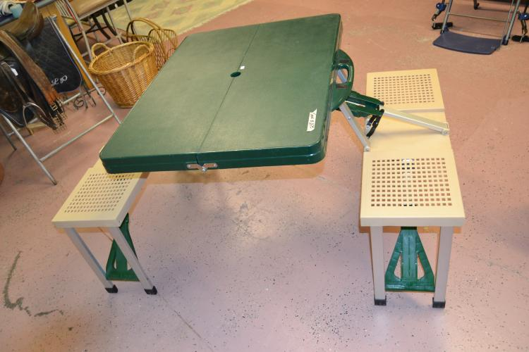 Vintage Folding Plastic Kids Picnic Table