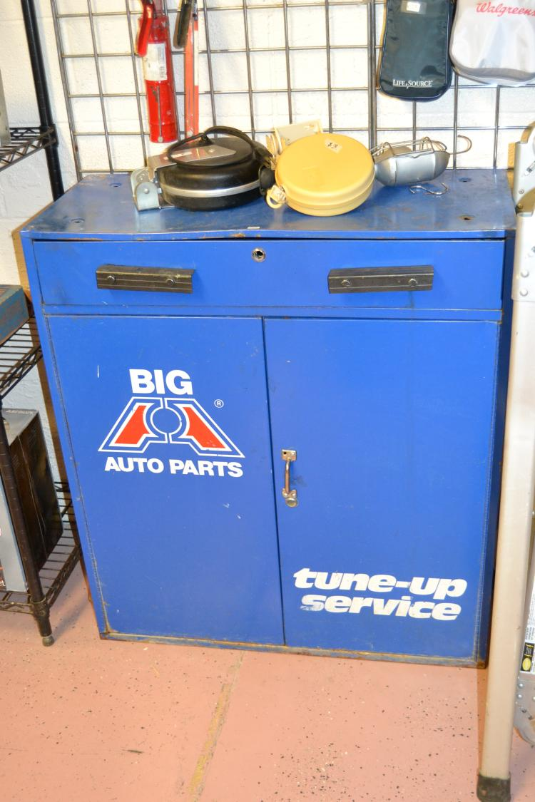 Vintage Big A Auto Parts Mechanics Cabinet