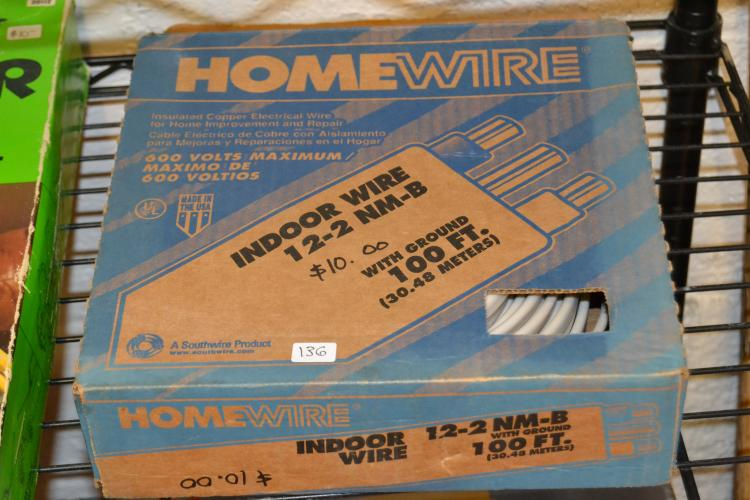 Homewire Indoor Wire 12-2 Nm - B With Ground 100 Feet