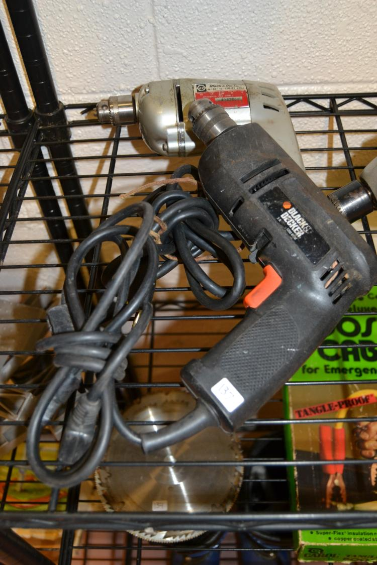 2 Black & Decker Electric Power Drills