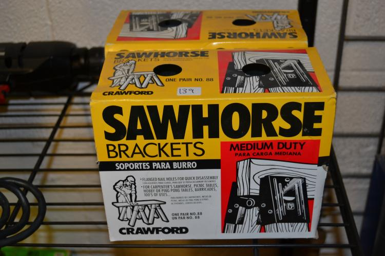 2 Medium Duty Sawhorse Bracket Kits
