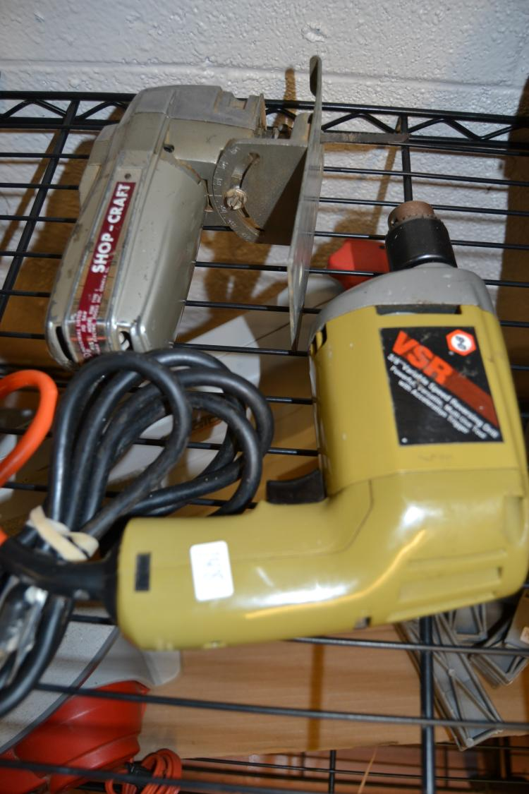 3/8 Inch Power Drill And Shopcraft Jigsaw