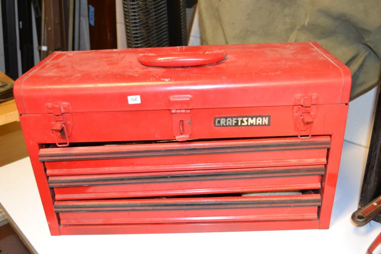 Craftsman 3 Drawer Locking Tool Box With Tools