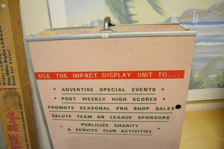 Vintage Vault Peabody Impact Letter Advertising Display Unit